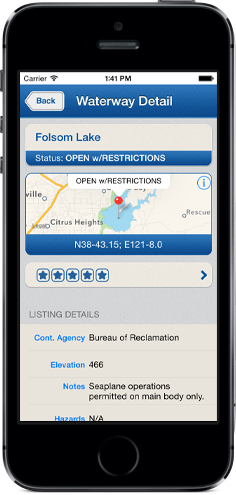 Water Landing Directory for iPhone, iPad and Android